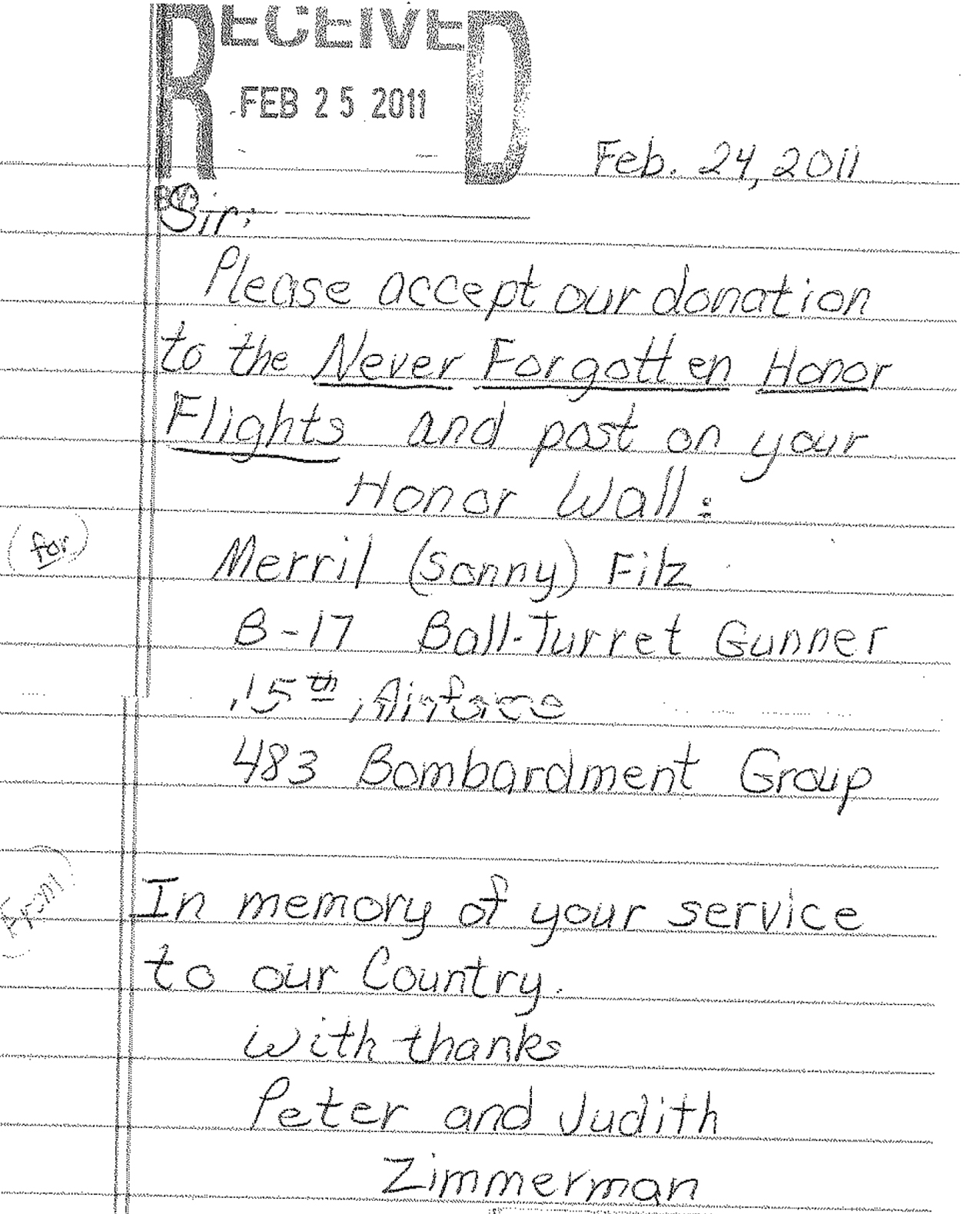 honor flight letter examples never forgotten honor flight we fly our veterans to see 22133