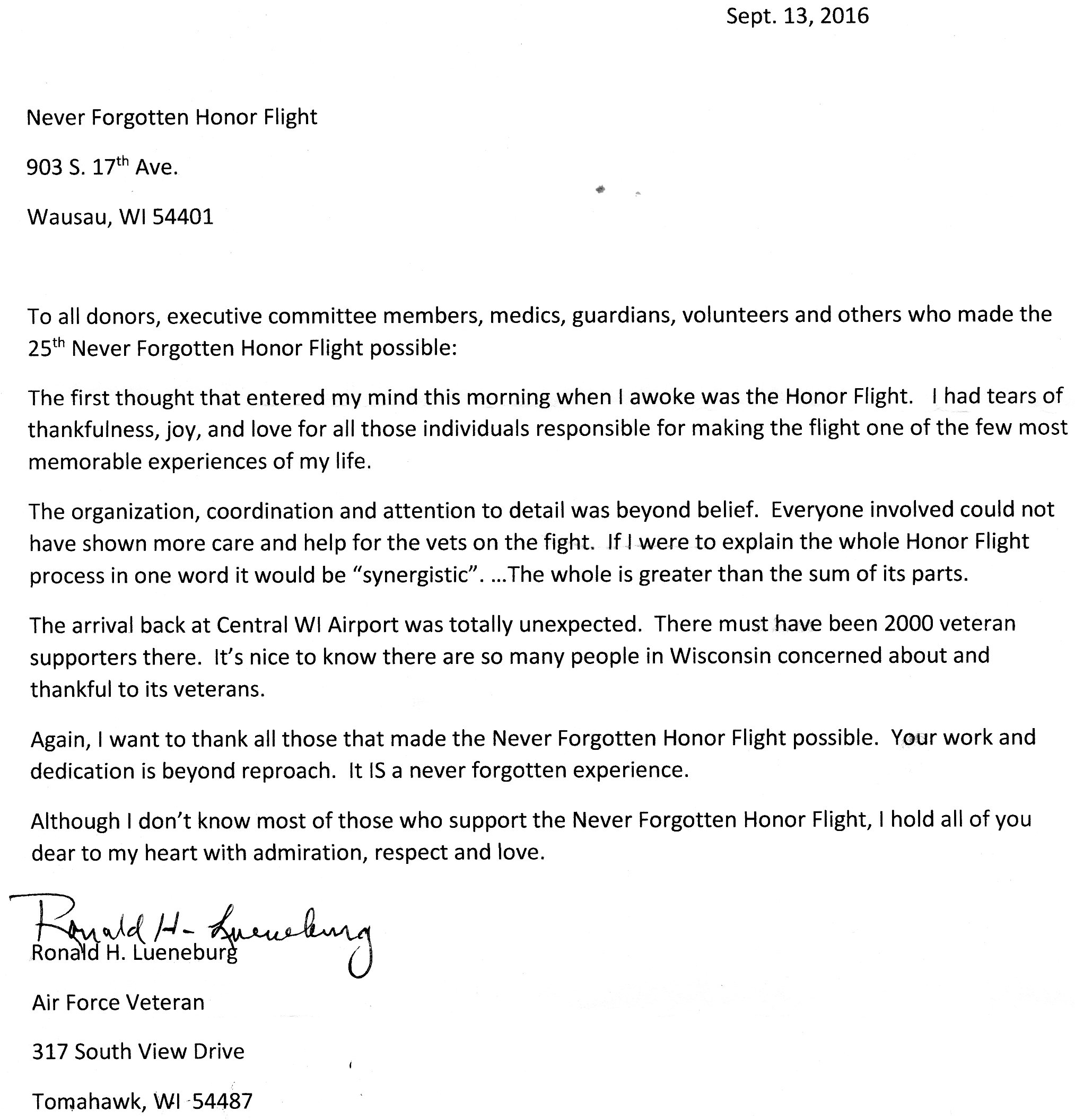 honor flight letter examples flight 25 never forgotten honor flight 11177
