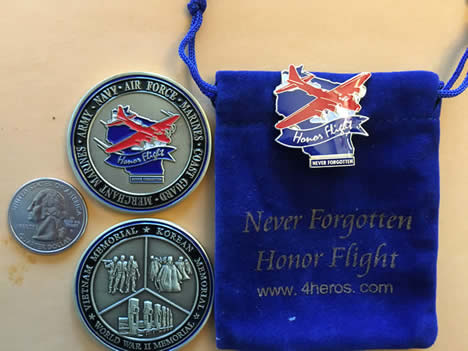 Combo – Challenge Coin & large Pin